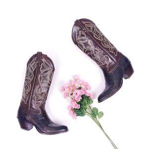 Dan Post Lizard Leather Cowboy Boots